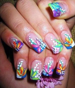 Росписи на ногтях - быстро и легко