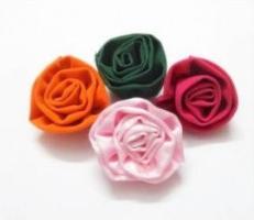 Роза из ткани – оригинальное украшение для домашнего интерьера