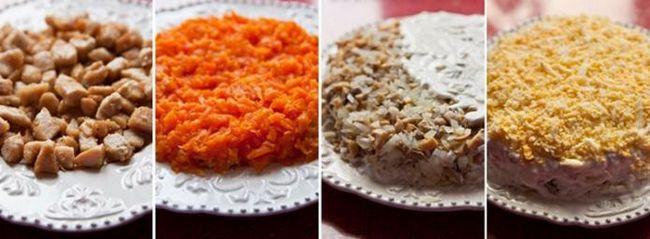 салат солнышко рецепт