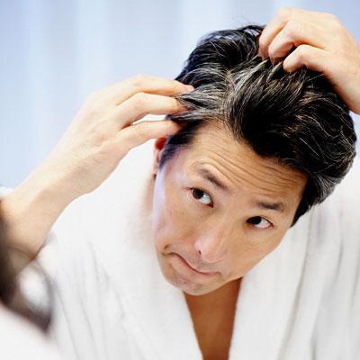 седые волосы причина
