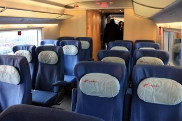 сидячие места в поезде расположение