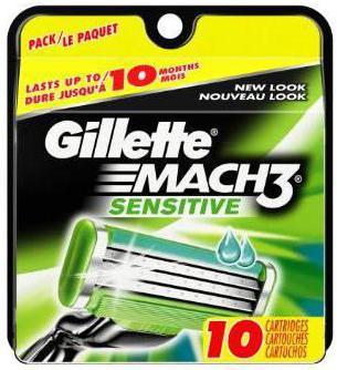 кассеты для бритья gillette mach3