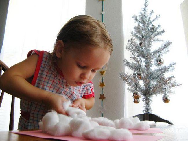Как сделать декоративного снеговика из ваты своими руками