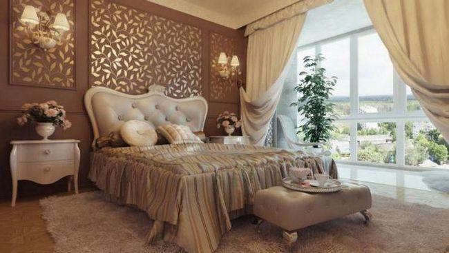 классические белые спальни