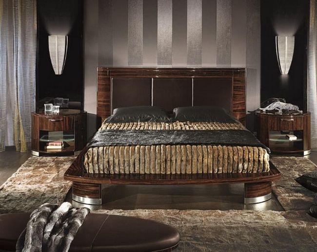 Спальня в стиле арт-деко - олицетворение комфорта и спокойствия