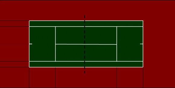Стандартные размеры теннисного корта и виды его покрытий