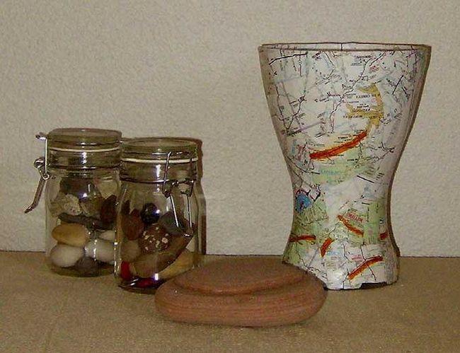 Стеклянная ваза. Декупаж