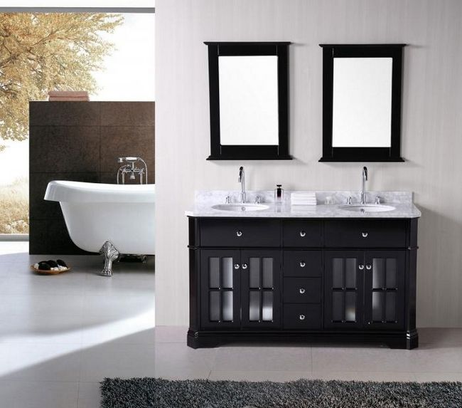 Стильные раковины с тумбой для ванной комнаты