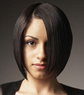 Стрижка каскад на средние волосы без челки