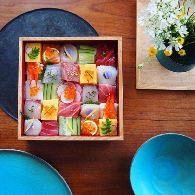 Суши-мозаика - новый фуд-тренд из японии