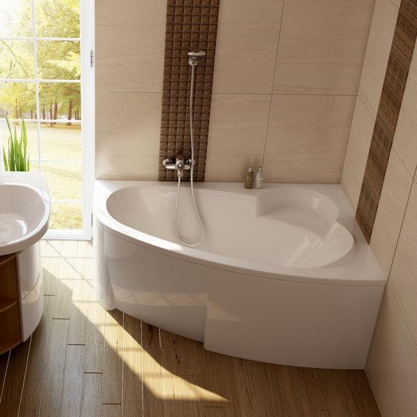 ванна ассиметричная акриловая