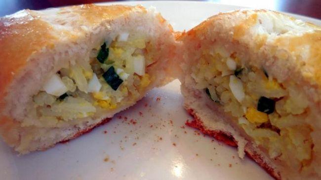 Татарские пироги с зеленым луком и яйцом