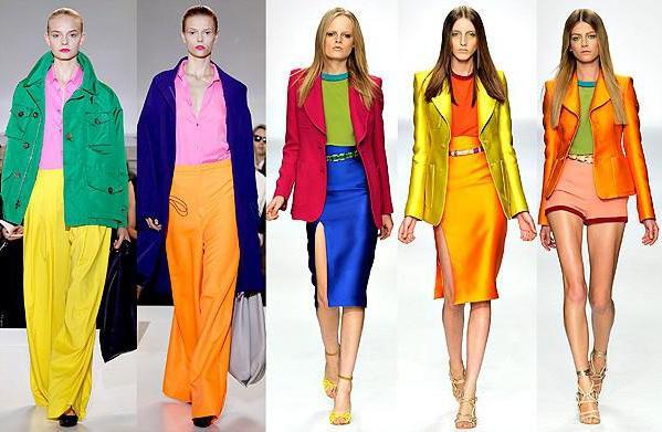 Теплые и холодные цвета в моде
