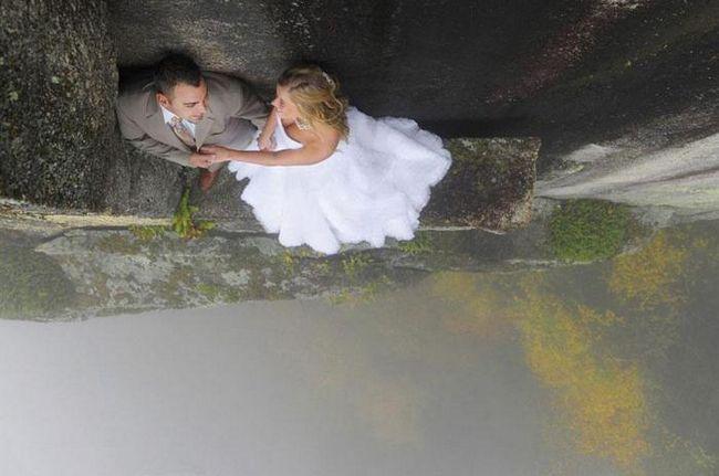 Удивительные свадебные фото на 100-метровой высоте