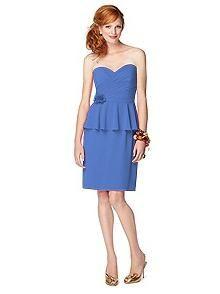 Васильковый цвет в одежде: выбираем актуальное платье