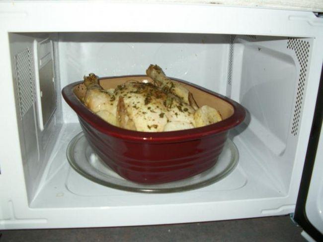 запекание курицы в микроволновке