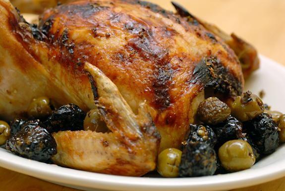 курица с черносливом в рукаве