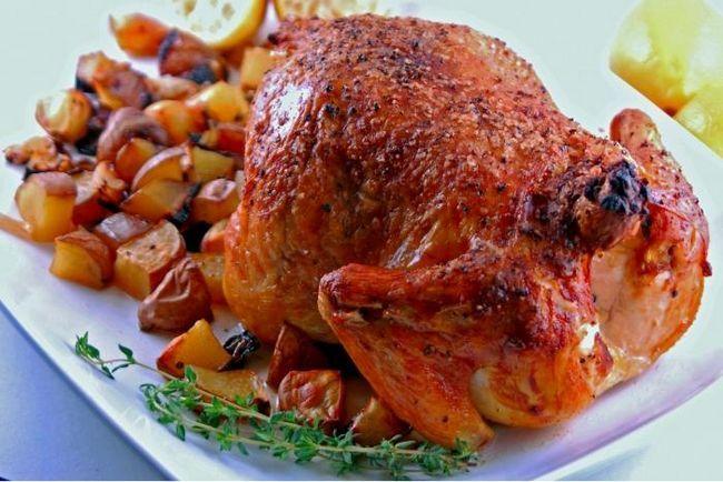 курица запеченная в рукаве фото
