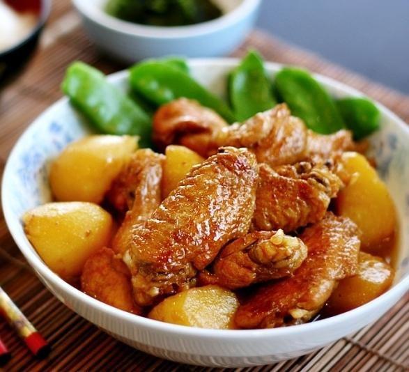 рецепт куриные крылышки с картошкой