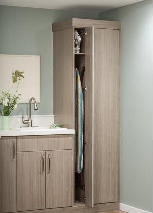 встроенная гладильная доска с зеркалом
