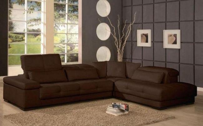 угловая мягкая мебель для зала