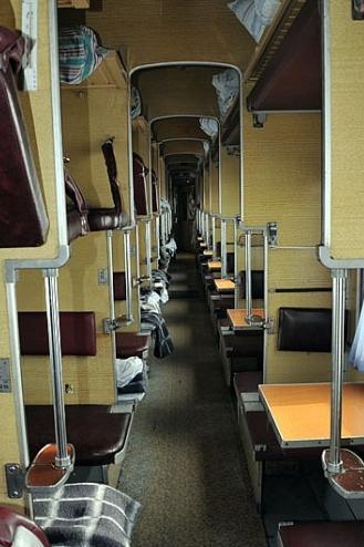 Расположение мест в поезде плацкарт