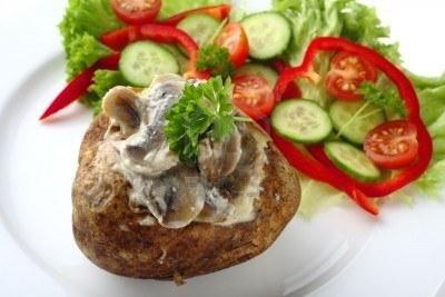 картошка фаршированная грибами в духовке