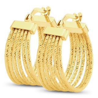 Золотая серьга в древности и сегодня